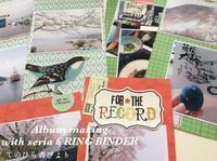 セリア6リングバインダーでアルバム作り[76]桜・箱根 - てのひら書びより
