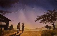 夕暮れのとき - 青山一樹 水彩画のひととき