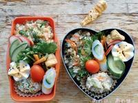 【ふたり弁】ノンオイル焼飯。週末は、庭に出て。【メロン子の辛子漬けレシピあり】 - あの日、あの味。