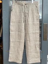Dapper's classical pencil stripe linen easy pants - BUTTON UP clothing