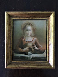 オリジナル油絵入り木製金彩額1078 - スペイン・バルセロナ・アンティーク gyu's shop
