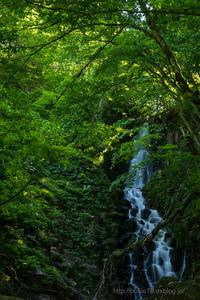 初夏の不動滝 - デジタルで見ていた風景