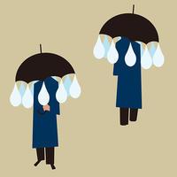 drops of rain - Yenpitsu Nemoto  portfolio    ネモト円筆作品集