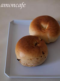 ベーグルとミルクパン - amoncafe