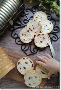 レーズンとオレンジのラウンドパン☆「カカ深呼吸してね!」と言われるも…なんだかな - 素敵な日々ログ+ la vie quotidienne +