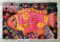 稲沢教室、完成したアルミの魚を紹介します。6 - 大﨑造形絵画教室のブログ
