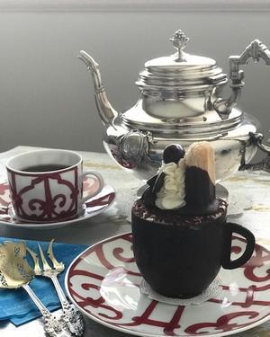 アンティークシルバーの銀器とお花 51?頂き物でお茶を♪ - アンティークな小物たち ~My Precious Antiques~