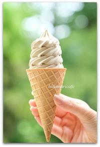 ワッフルコーンほうじ茶アイスクリーム - 陽だまりcafe
