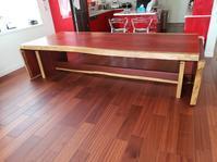 全長4mのバタフライテーブル - 一枚板テーブル、無垢材家具 原木家具の祭り屋