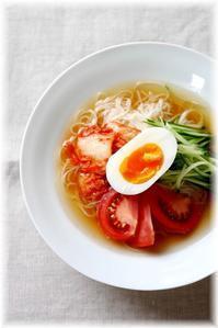 そうめんで冷麺風 - Less is more