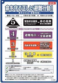 「命を守る正しい避難行動!」配布 - 若宮新町会ブログ