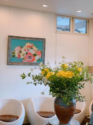 待合室のお花は。。。 - 松本陽子デンタルクリニック院長ブログ Beauty&Cure診療日誌
