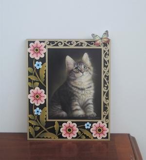 再入荷! 「子猫のポートレート」材料セット - ペイントクラフトBlog 編集スタッフの活動日記