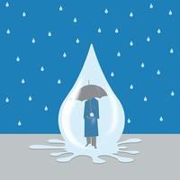 雨の中 - Yenpitsu Nemoto  portfolio    ネモト円筆作品集