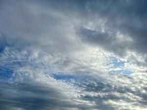 こちらは、今日の夕刻の空模様なり。 - LUNAママのぷれしゃす