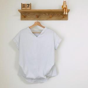 Vネックシャツ - 洋裁教室「針しごと  トイトイトイ」