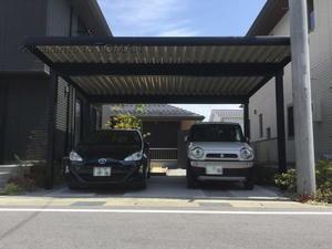 滋賀県内でカーポートG-1を施工しました。耐積雪仕様の屋根付き駐車場 - エクステリア.com スタッフブログ
