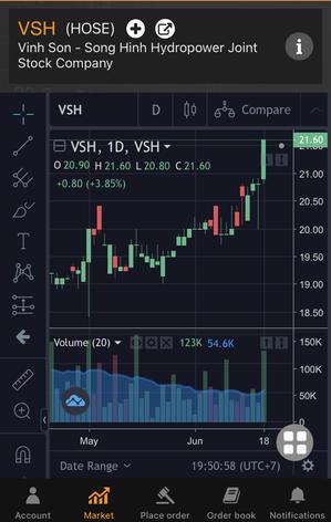 VSH続伸で外人買いが増加・・・その理由は、まさかねぇ - ベトナム株で1億を投資するブログ 銭1の華の山紀行