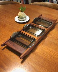 Teak & Glass Serving tray - hails blog