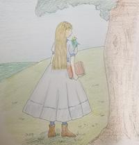 丘にて小鳥と女の子 - *乾杯の自由帳*