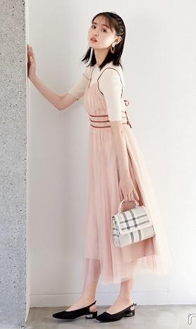 遠藤さくらさん着用のピンク色チュールワンピースが可愛すぎる♪ #リリーブラウン - *Ray(レイ) 系ほなみのブログ*