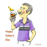 Father's Day - K e  i  k  o     A  o  i  イ ラ ス ト 日 記