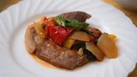 豚肩ロース焼き ラタトイユソース - 登志子のキッチン