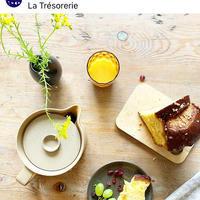 パリの朝のテーブル風景 ラ・トレゾルリのエルザさんのアレンジで - keiko's paris journal                                                        <パリ通信 - KSL>