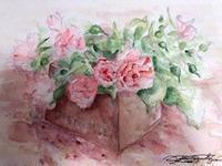 バラの絵と二種類のジェノベーゼ - Fran とDomagkのガーデンライフ