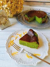 抹茶のバスクチーズケーキ - mama-kotoのおいしいもの雑記帳