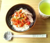 トマトサルサ素麺 - Minha Praia