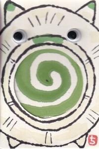 夏の工作絵手紙・蚊やり豚 - 北川ふぅふぅの「赤鬼と青鬼のダンゴ」~絵てがみのある暮らし~
