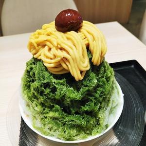 AMU博多「抹茶カフェ HACHI」 - 福岡の抹茶かき氷