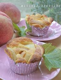桃マフィンとプレーンマフィン - マキパン・・・homebake パンとお菓子と時々ワイン・・・