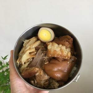 松江南京(台北)「富覇王豬?」の豚足弁当 - そこはかノート ー台湾つれづれー