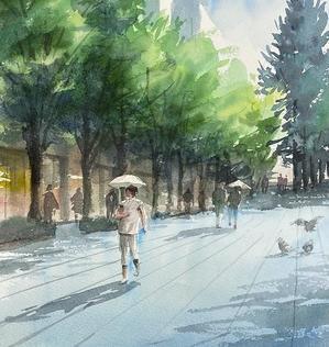 真夏日 - 赤坂孝史の水彩画
