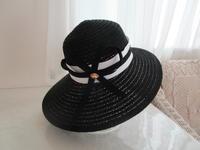 100均帽子をエレガントに変身させました。 - ピンクローズのキラキラ手芸DAYS