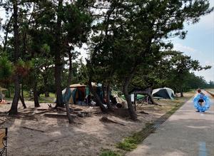 富山湾雨晴海岸キャンプの下見 - 山村留学の町や村からー山本光則