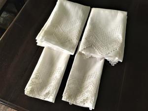 麻ドロンワークカーテン 199、200    sold out! - スペイン・バルセロナ・アンティーク gyu's shop