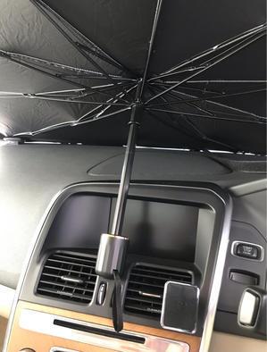 折り畳み傘型サンシェードの改造 - 本日も晴天なり  ちょっとそこまで自転車で