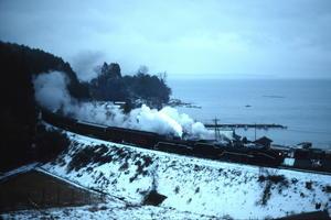 鉛色の日本海 - 七尾線・1991年 - - ねこの撮った汽車