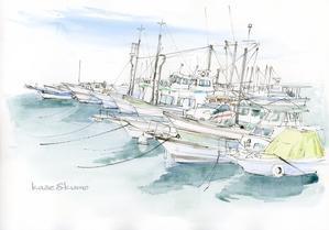 瀬戸内の漁港 - 風と雲