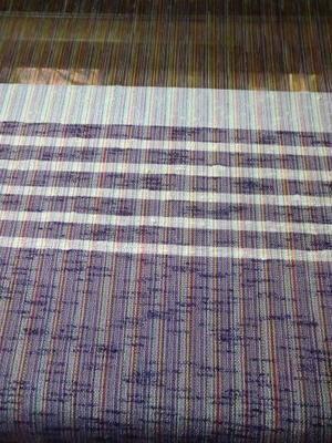 シルクスラブでサクサク織ってます - 織華の紗音