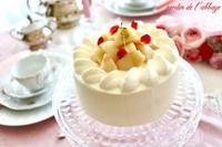 桃のショートケーキ - 杉並区お菓子教室「jardin de l'abbaye 」ブログ