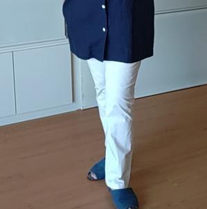 自分服:LLサイズ白パンツを縫う - きまぐれ日記/Ryoko
