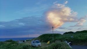 奥尻島 北追岬キャンプ場 34日目 - 空の旅人