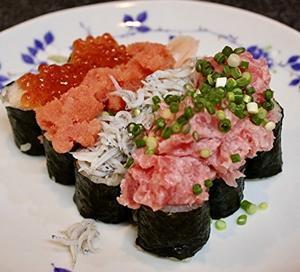 寿司居酒屋さん風に、こぼれ寿司 - キムチ屋修行の道