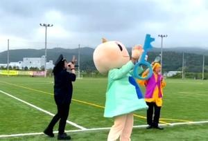 本日ついに石巻セイホクパークでプロサッカーハーフタイムショーに! - infix 公式ブログ『長友仍世のThank you-Audience!』