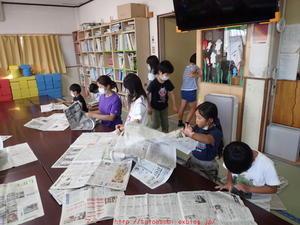 2021年7月28日学童さん新聞紙テント -