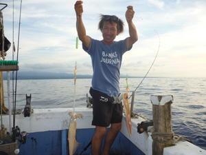 スルメが増えたよ。 - 海王流 鳥取県赤碕の遊漁船「海王丸」